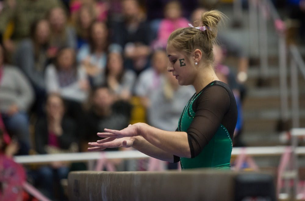 Eagles struggle on beam, fall to Kent State