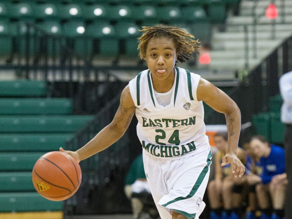 EMU freshman guard Cha'Ron Sweeney scored 25 points in 25 minutes played in Eastern Michigan's 101-52 win over Madonna Friday afternoon.