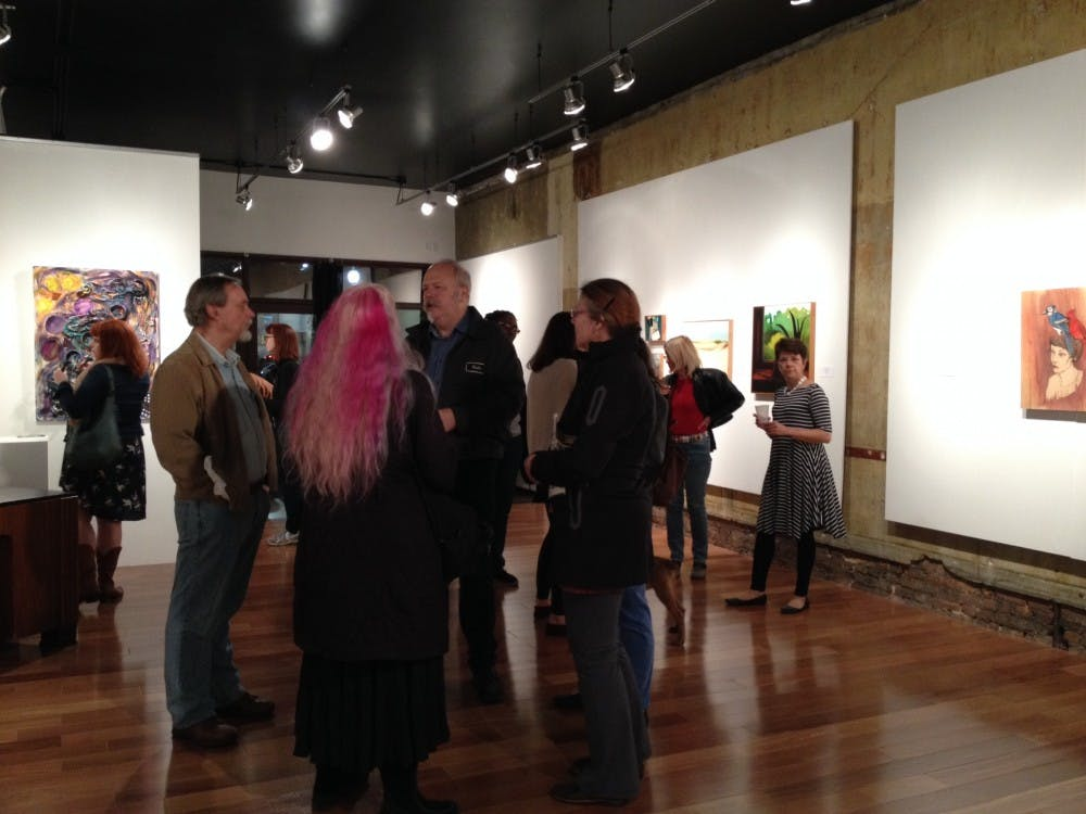 22 North Art Gallery had people from the Ypsilanti community comeout for their first juried show.