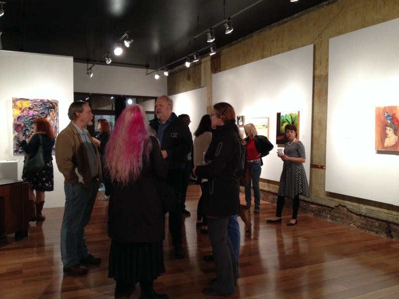22 North Art Gallery had people from the Ypsilanti community come out for their first juried show.