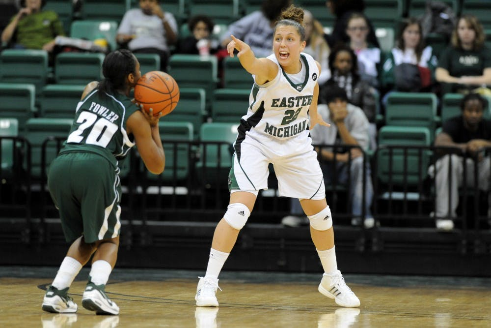 EMU women's basketball team crushes Ohio University, 85-40