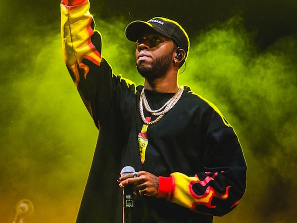BERLIN, GERMANY - SEPTEMBER 08:  6lack performs on stage during day 2 of Lollapalooza Berlin Festival 2019 on September 8, 2019 in Berlin, Germany.  (Photo by Joseph Okpako/WireImage)