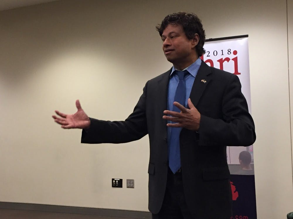 Gubernatorial candidate Shri Thanedar visited Eastern Michigan University Monday, Nov. 6 for a town hall meeting in the Student Center, hosted by the EMU College Democrats.