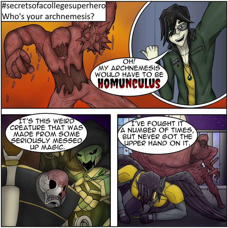 Some monsters are more horrid than others, and Monstra-Man's archnemesis, Homunculus, is the most vile!