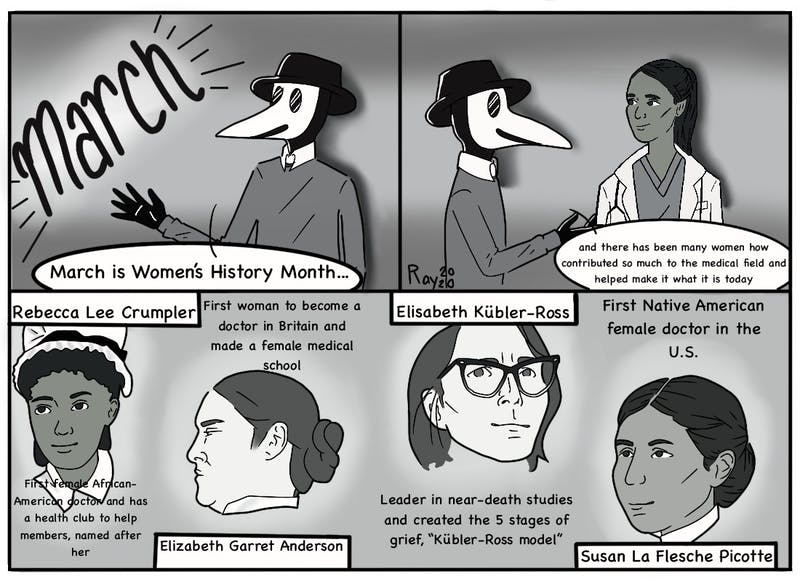 March is Women's History Month! In honor of that, the Plague Doctor is taking a look back at all of the great women who contributed to the world of medicine.