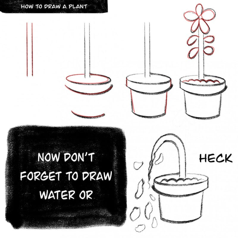 You might need a green thumb for this drawing...