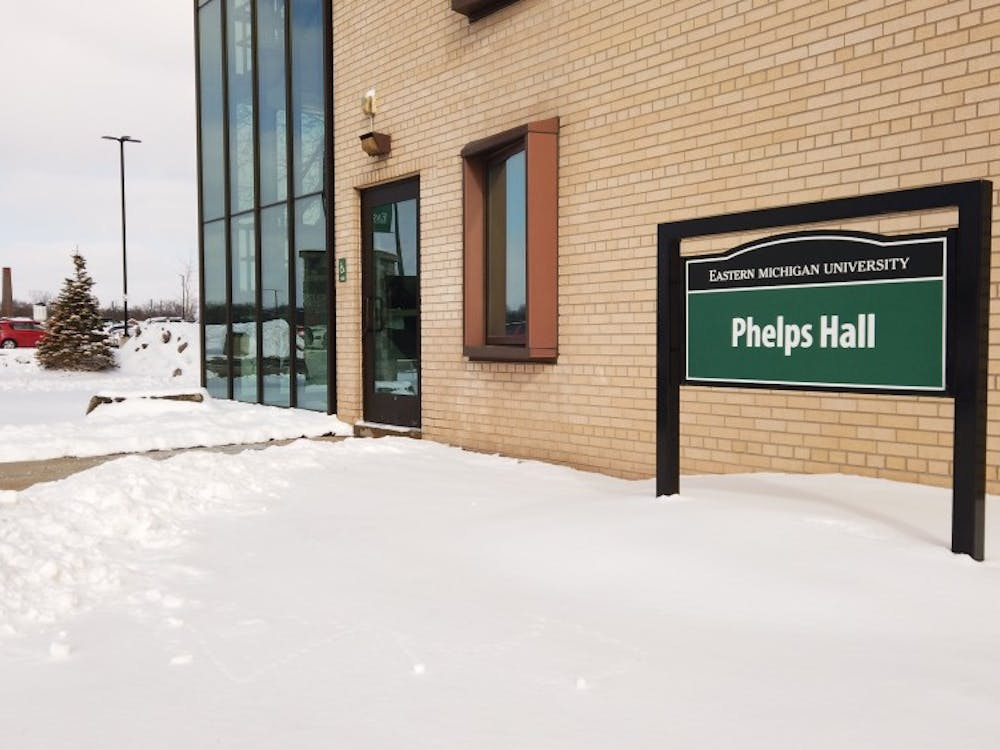 The outside of Phelps Hall on Feb. 19.