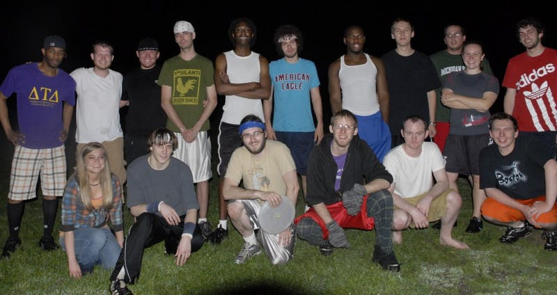 Just after midnight every Thursday, Midnight Ultimates meet to play modified ultimate frisbee in Frog Island Park.