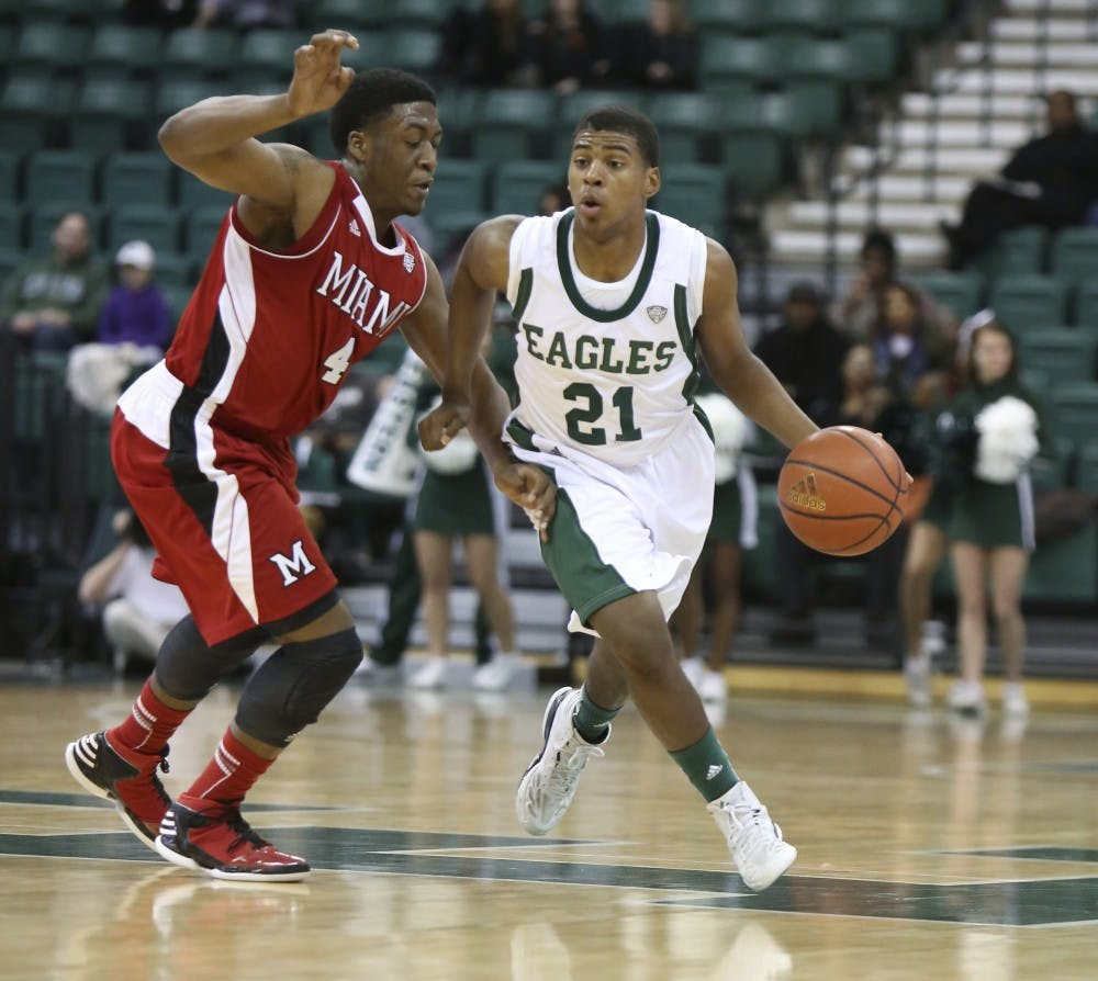 Eagles get 1st win over RedHawks since '97