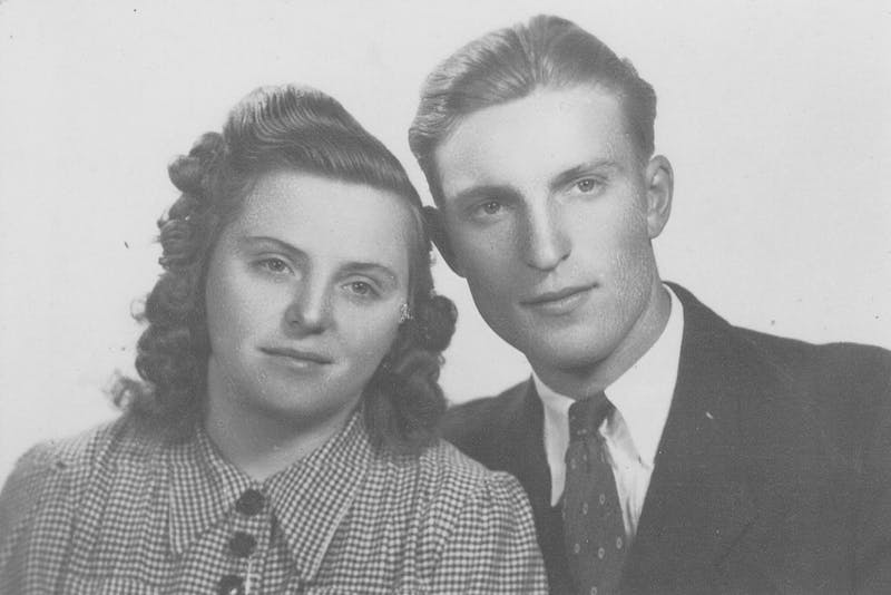 Anna and Sandor Racz on January 23, 1948.