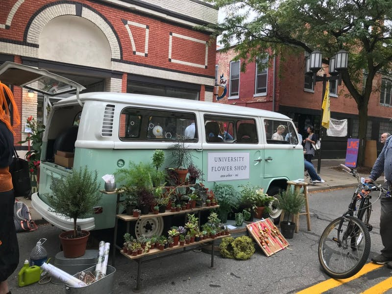 University Flower Shop does pop-ups in the Ann Arbor and Ypsilanti area. They sell a variety of plants and flowers.