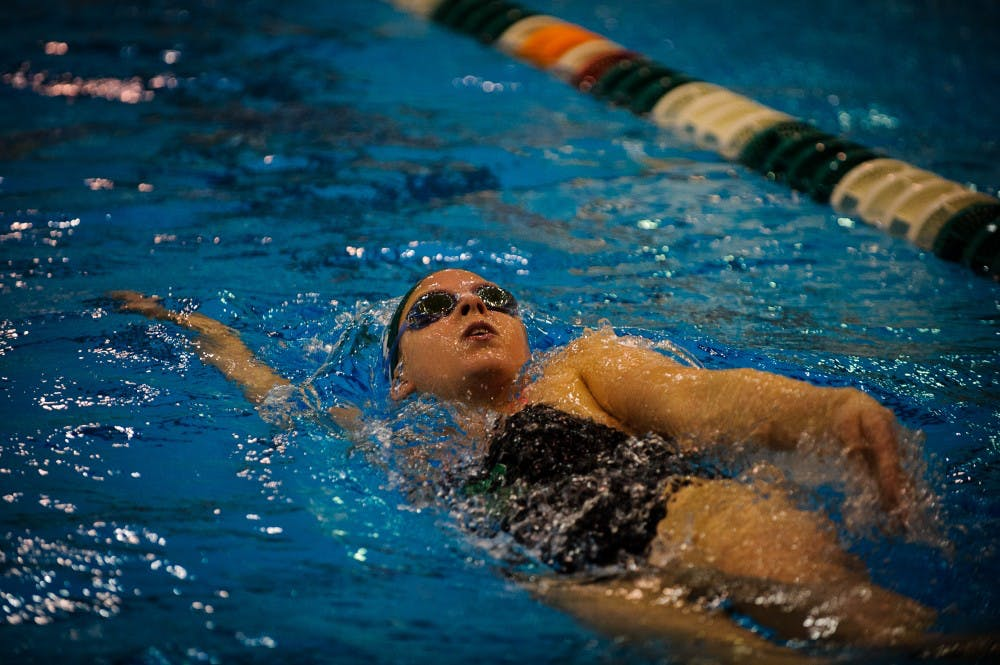 EMU's women's swim and diving team has strong victory at EMU invitational