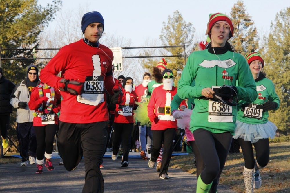 Go Santa Go 5k held in Ypsilanti