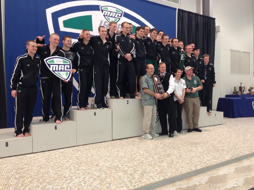 Men's swim and dive wins MAC championship