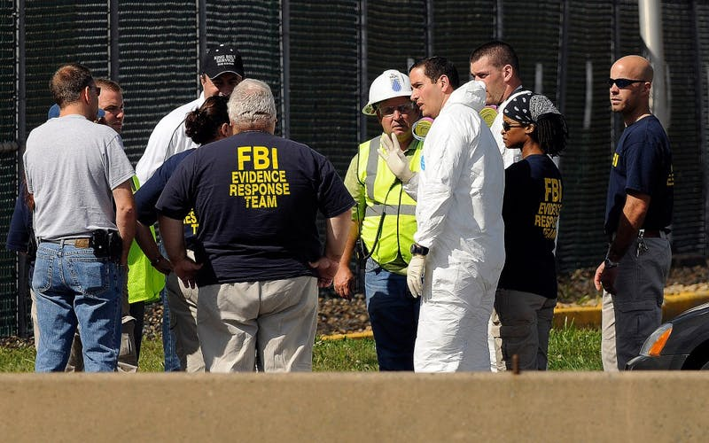 The FBI Evidence Response Team arrives on site at CRRA, September 13, 2009, as State Police and FBI investigate in the missing persons case of Yale student Annie Le.