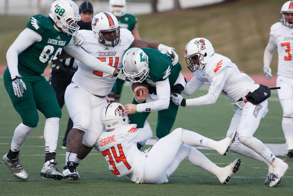 Eagles offense absent in 58-7 loss to Bowling Green