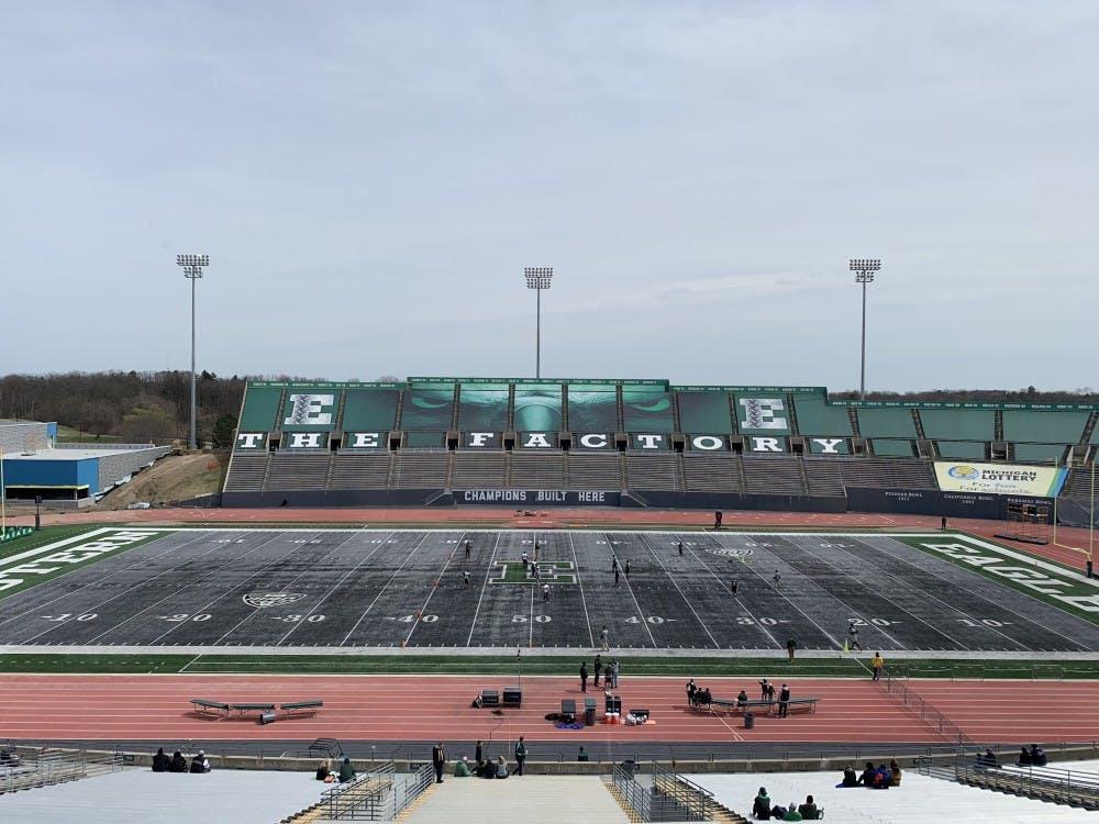 Rynearson Stadium before the Spring Game on April 13.