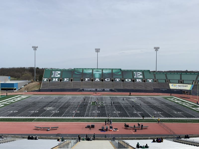 Rynearson Stadium before the Spring Game on April 13.