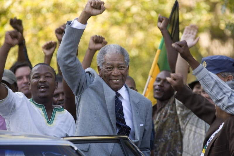 Morgan Freeman delivers a strong pergormance as South African President Nelson Mandela in Clint Eastwood's 'Invictus,' prompting early Oscar speculation for the legendary actor.