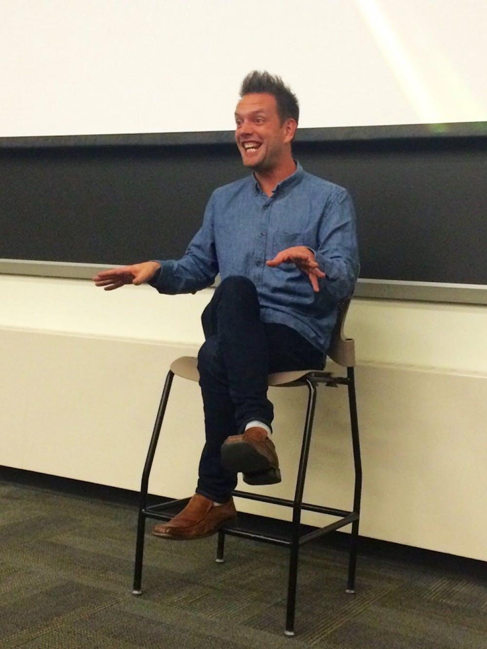 Josh Rivedal talks mental illness to students