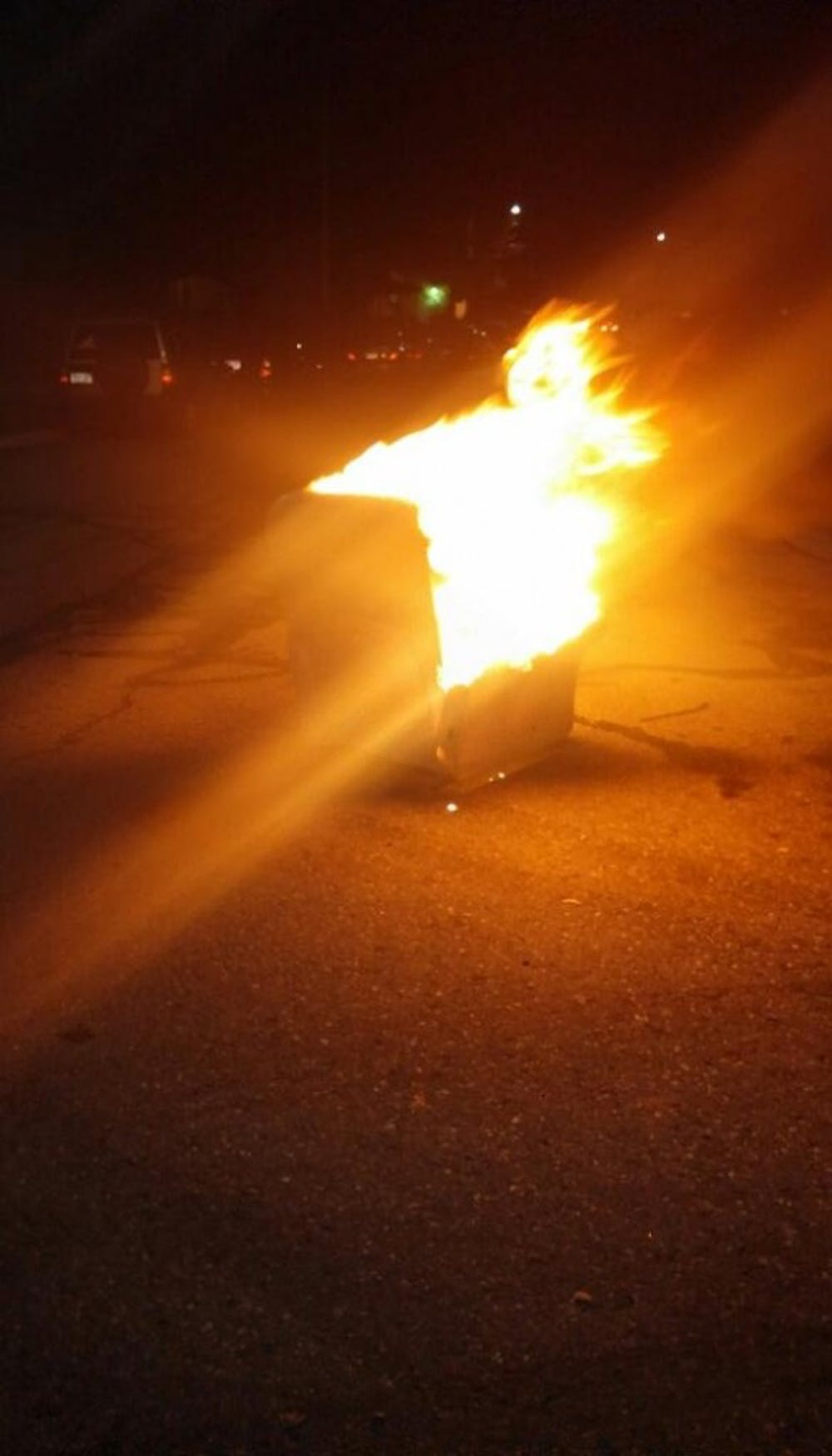 EMU fans set a couch on fire celebrating EMU's victory