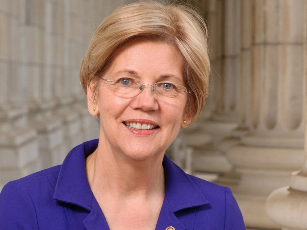 The official portrait of Sen. Elizabeth Warren for the 114th Congress.