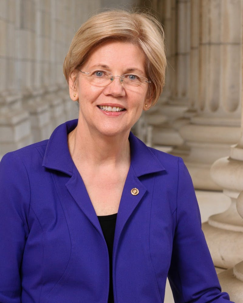 The official portrait of Sen. Elizabeth Warren for the 114th Congress.