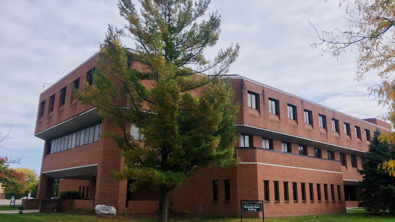 The Alexander Music Building, home of Eastern Michigan University School of Music and Dance. (Photo courtesy of Maddie Dollard).