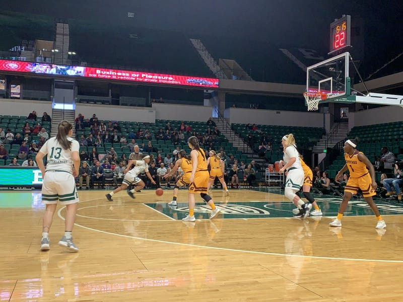 Eastern Michigan's women's basketball team fell short 70-60 against Mid-American Conference rival Northern Illinois in Dekalb, Illinois on Feb. 27.