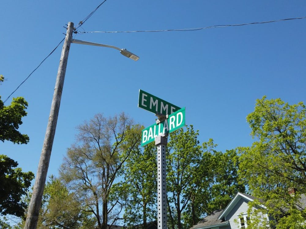 The corner of Emmet and Ballard Street in Ypsilanti, Michigan.