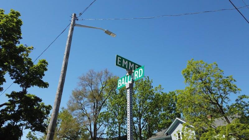 The corner of Emmet and Ballard Street in Ypsilanti, Michigan.