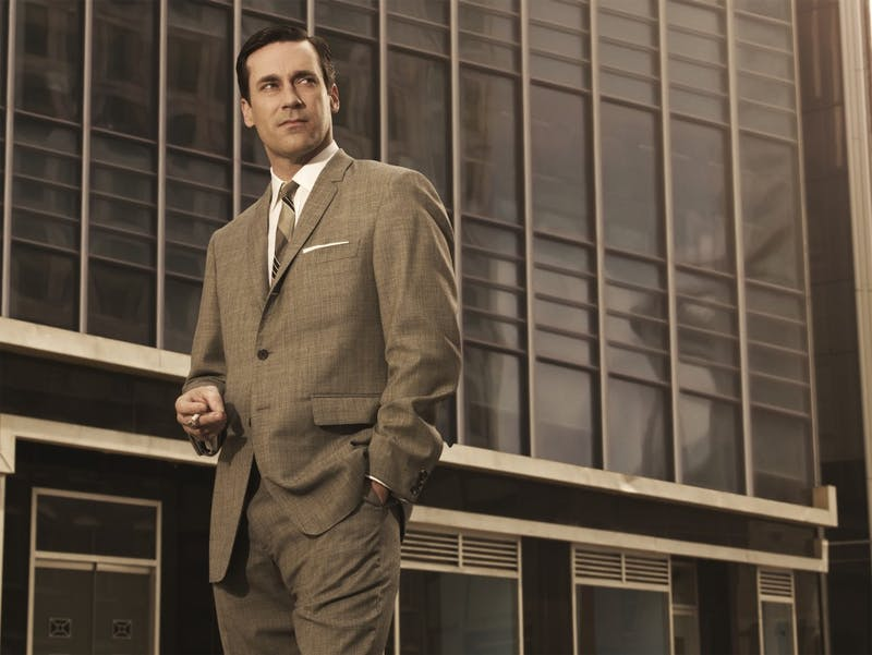 "Brooks Brothers has introduced a new limited-edition suit that looks plenty like something love 'em or hate 'em Don Draper (Jon Hamm) might wear on the AMC show ""Mad Men."" Hamm, as Draper, is shown here on ""Mad Men."" (AMC/MCT)"
