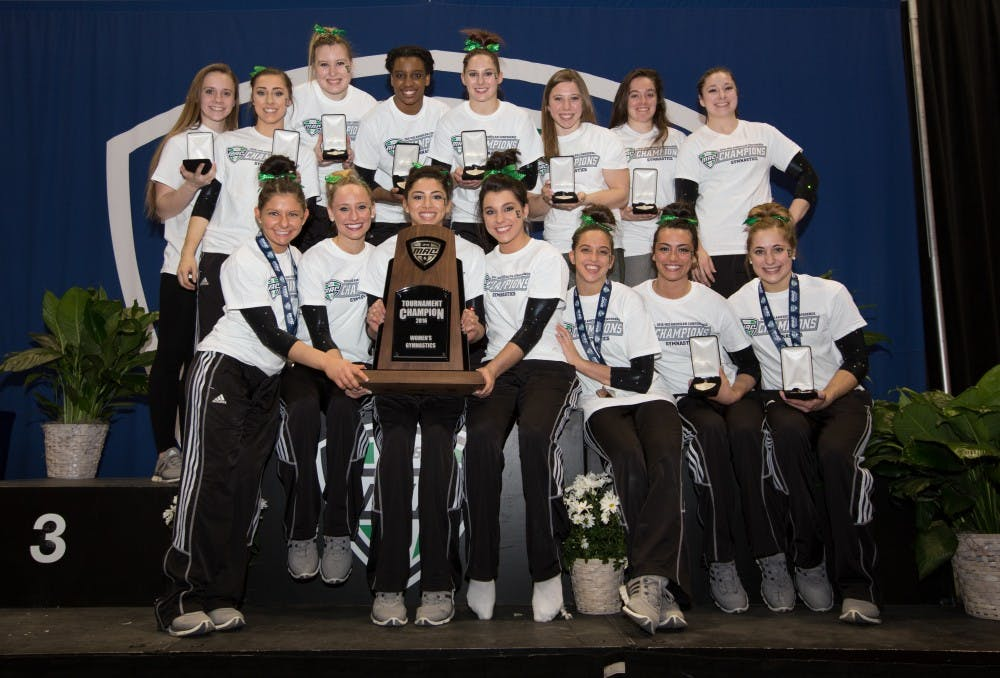 Gymnastics wins big at MAC Championships
