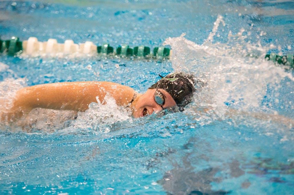 EMU women's swim team falls to Toledo