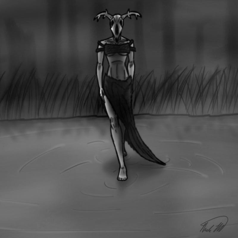 In the dark corners of the bayous of Louisiana, a creature approaches those of the lost souls. Forsaking them to a fate of eternal torment from those they wronged. She is Foresakin, and you'd best remember her name well. Unless you desire such a fate to befall you, as well...