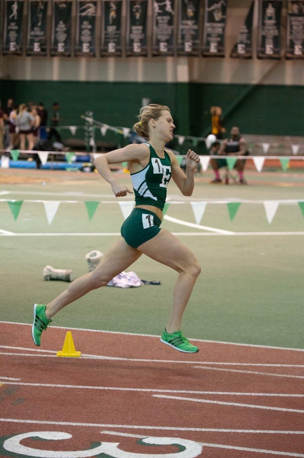 Women's track has good weekend at SPIRE, Voronko breaks record