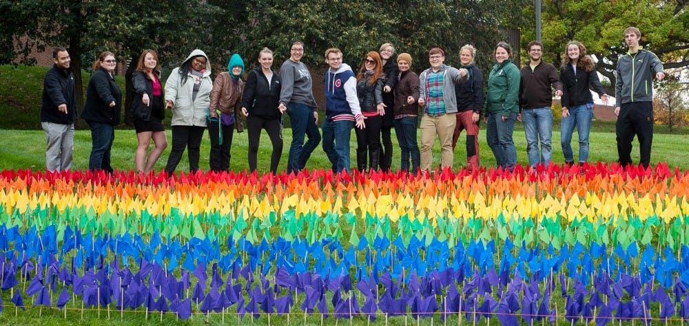 LGBT community plant rainbow flag