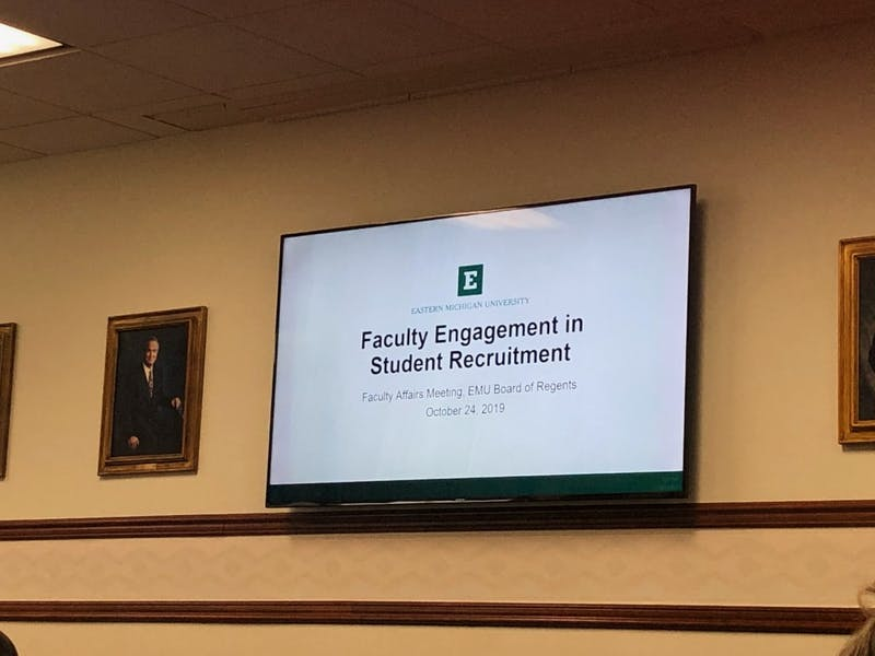 Board of Regents meeting on October 24 covered how faculty can get involved in recruiting students to EMU.