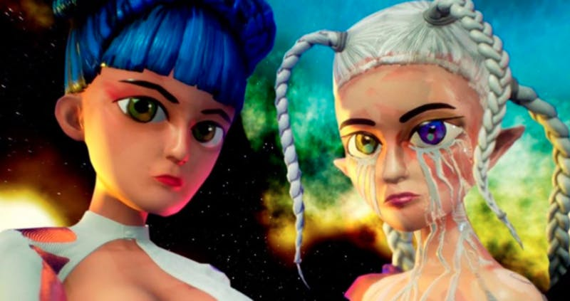 """The eccentric animated music video for """"Cry"""" is something which separates Ashnikko from other artists, with Grimes adding more of a peculiar punch."""