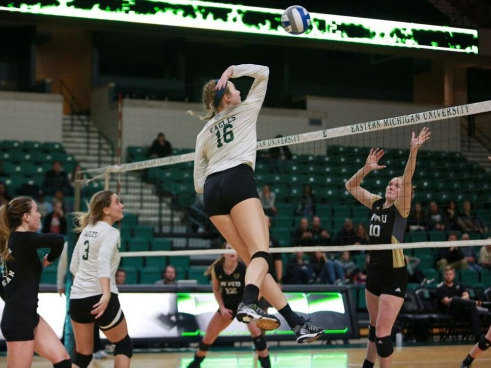 Eastern Michigan took to the court Nov. 3 at the Convocation Center for a matchup against Western Michigan.