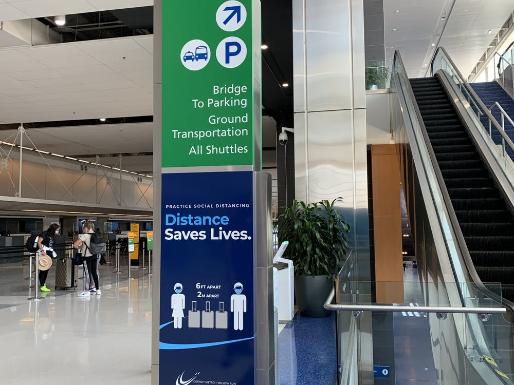 The Detroit Metropolitan Wayne County Airport takes COVID-19 safety precautions to ensure safety for all (photo courtesy of the Wayne County Airport Authority).