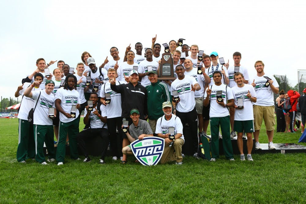 Track and field men win MAC Championship; women finish second