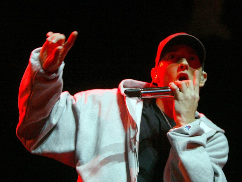 "Eminem performs during the release party of his new album ""Relapse"" at the Motor City Casino in Detroit, Michigan, on Tuesday, May 19, 2009. (Kimberly P. Mitchell/Detroit Free Press/MCT)"