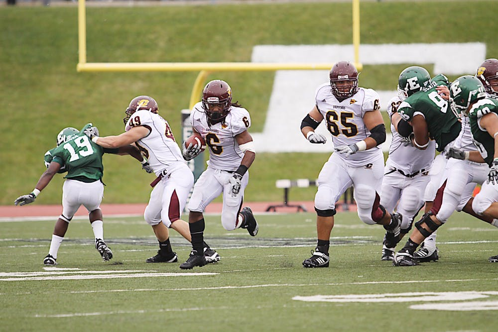 Central Michigan hands Eastern football team 15th straight defeat