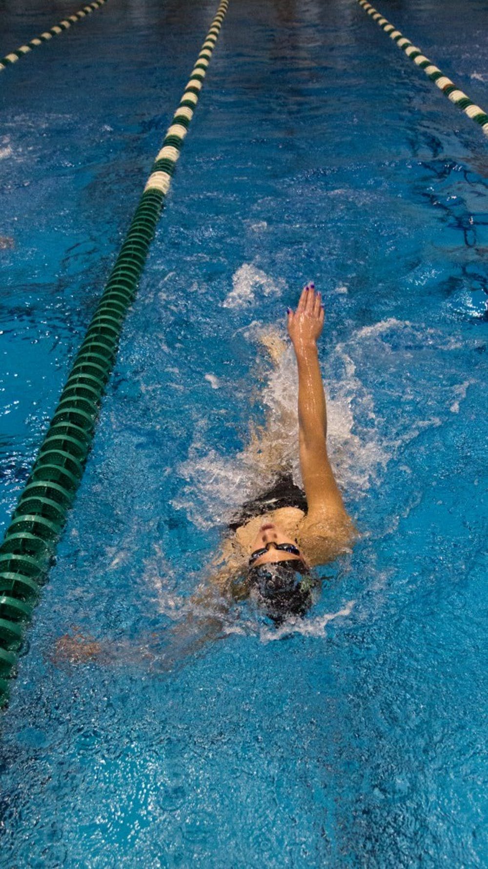 Men's, women's swim teams win final home meet of season
