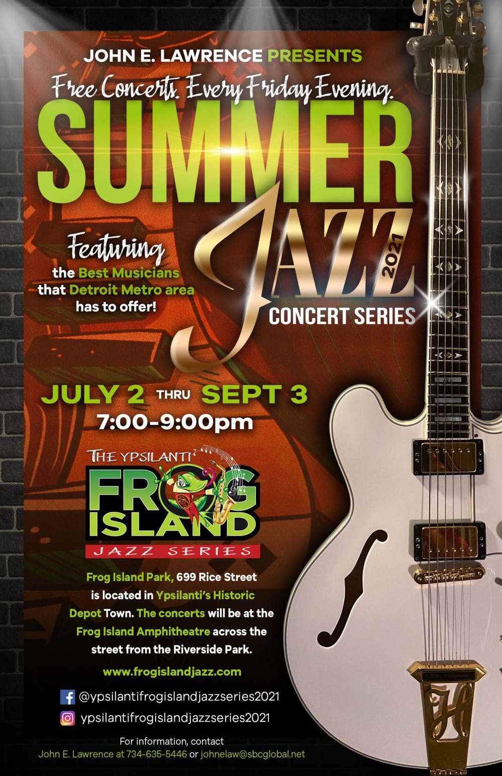 Ypsilanti musician John E. Lawrence hosts The Ypsilanti Frog Island Jazz Series all summer long