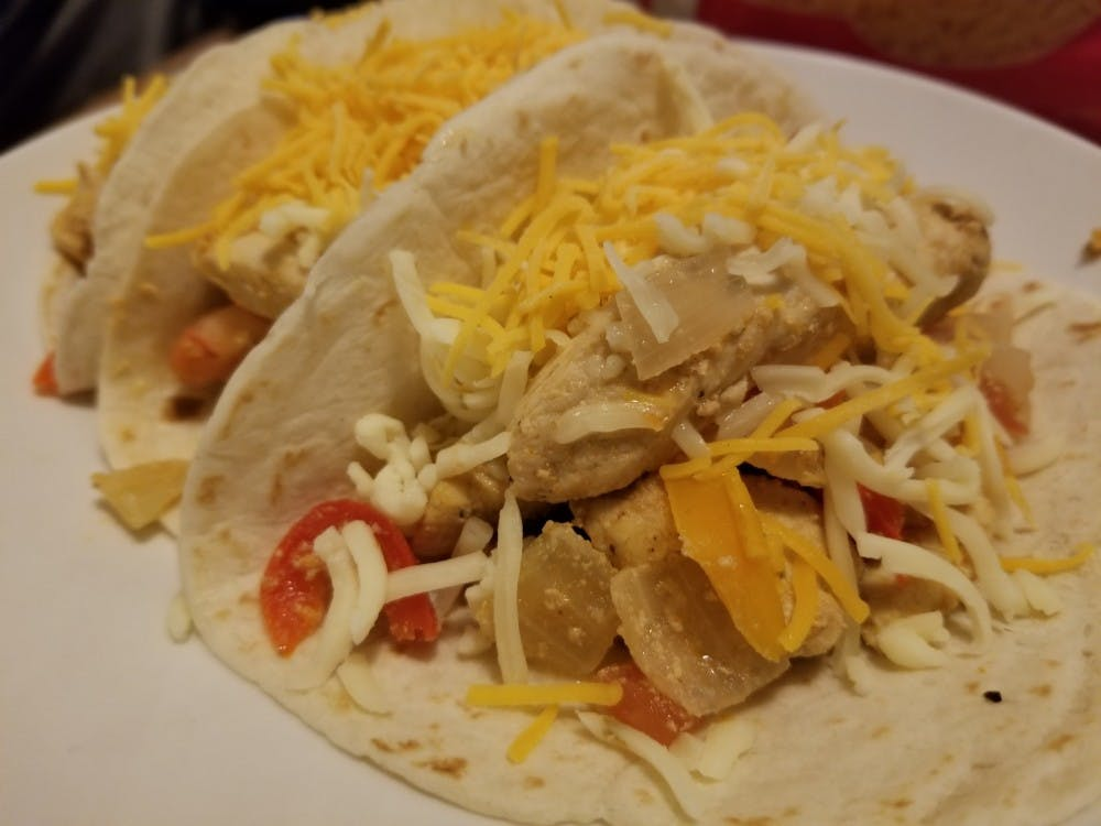 Cooked chicken fajitas: the final product.