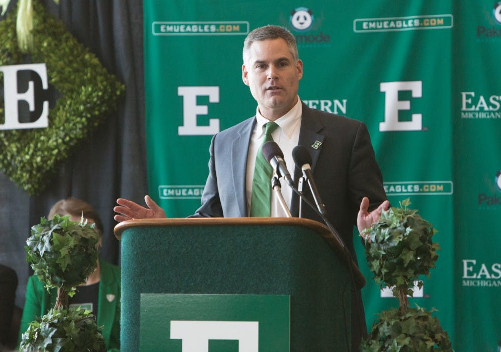 Creighton introduced as EMU coach