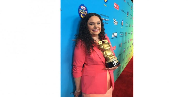 Brittney Barros, a senior at Eastern Michigan University, won the 'Heroes for Change' award at the 2019 Radio Disney Music Awards on June 16. Photo courtesy of Brittney Barros.
