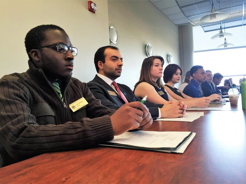 Members of Student Governmentat their regular meeting on Tuesday, April 5.